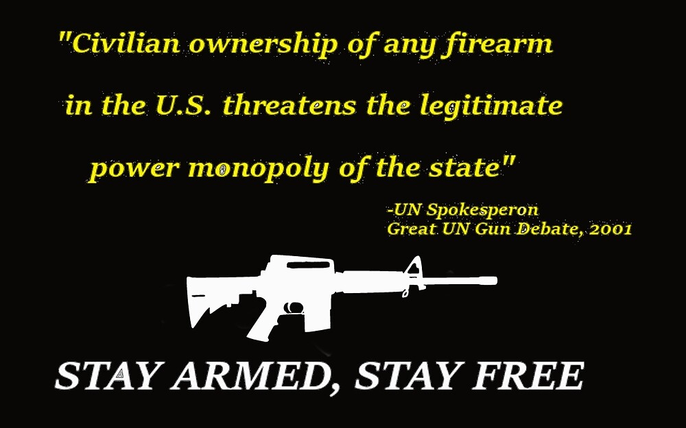 """Stay Free, Stay Armed - AR-15, M-16 """" by Shane Miller   Redbubble"""