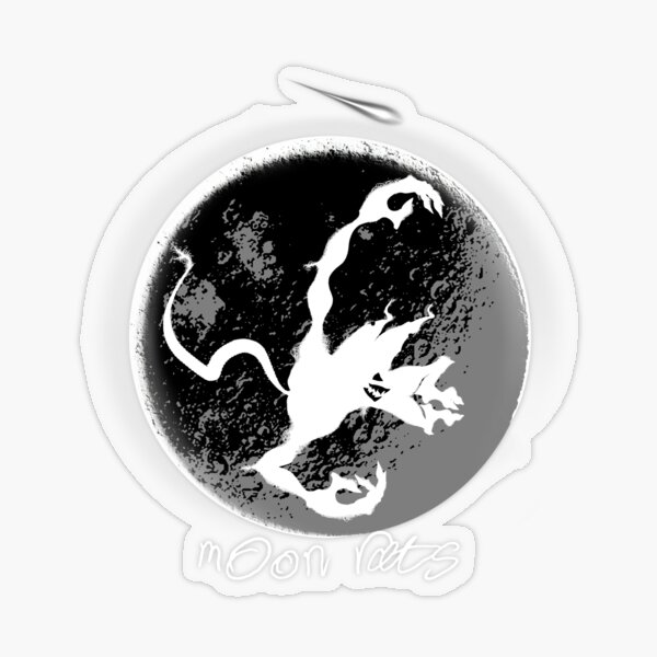 Moon Rats! Stickers from outer space - Design Pack 2 of 6 Transparent Sticker