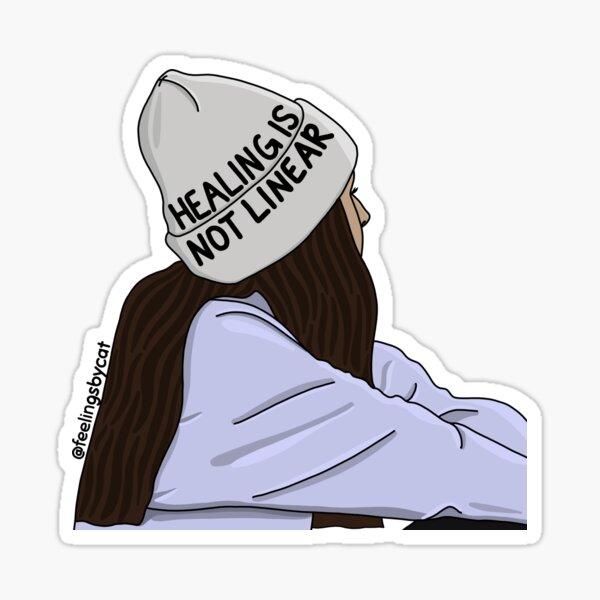 Healing Is Not Linear Girl Sticker