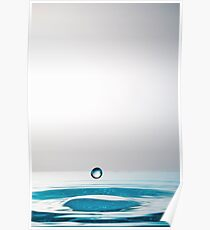 Falling Droplet into water surface Poster
