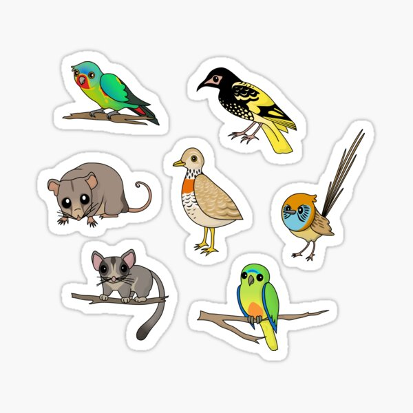 Australian Sticker Set Australian Animals Sticker Set Animal Sticker Pack Aussie Sticker Pack Black and White Sticker Dangerous Animals