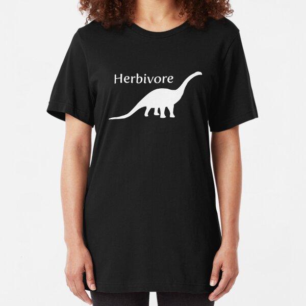 Herbivore Dinosaur White Slim Fit T-Shirt
