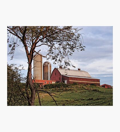 Barn on a hill Photographic Print