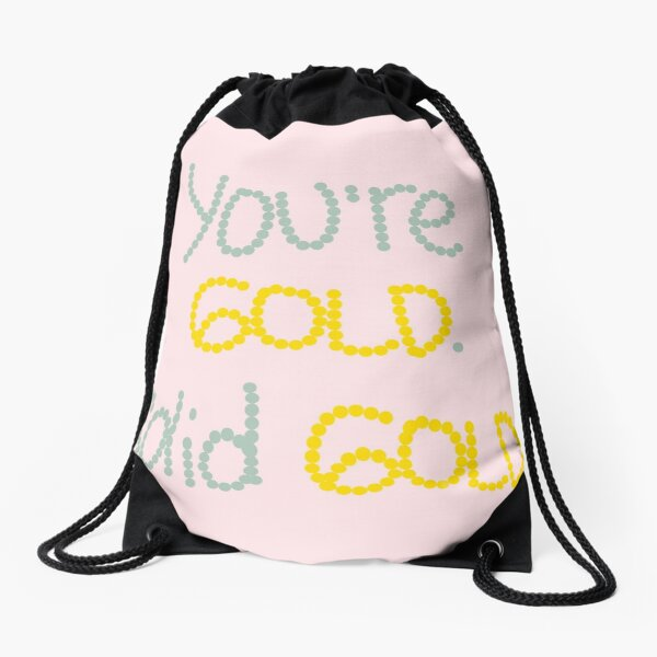 Solid Gold Drawstring Bag