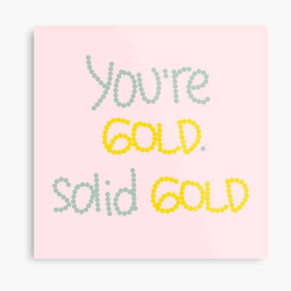 Solid Gold Metal Print