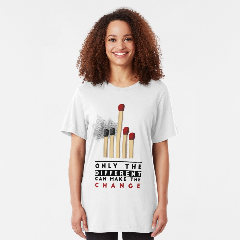 BE DIFFERENT Slim Fit T-Shirt