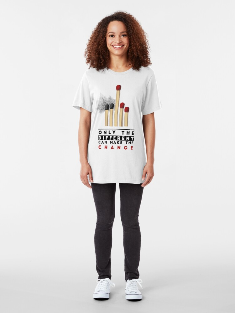 Alternate view of BE DIFFERENT Slim Fit T-Shirt