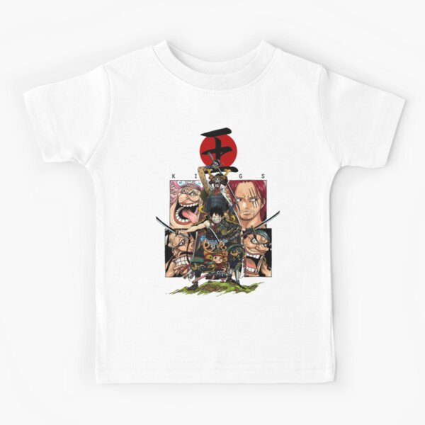 Assemblage d'une pièce Wano Kuni! Samurai Chopper, Luffy et Brook! T-shirt enfant