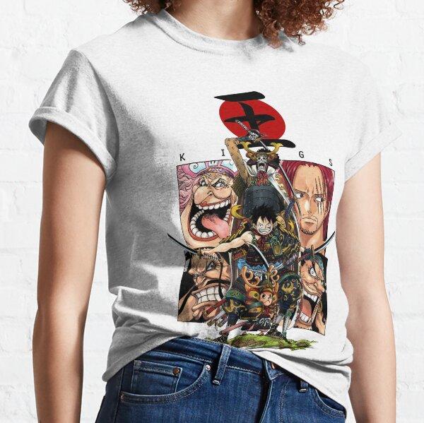 Assemblage d'une pièce Wano Kuni! Samurai Chopper, Luffy et Brook! T-shirt classique