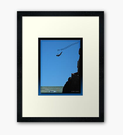 The Cliff Diver Framed Print