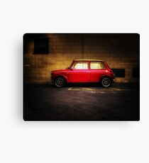 Wee Red Mini Cooper Canvas Print