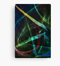 Light abstraction in blue-green Canvas Print