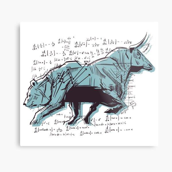 Bull and Bear Metal Print