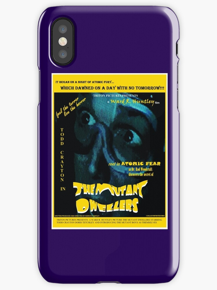 Mutant Dwellers iphone by Margaret Bryant
