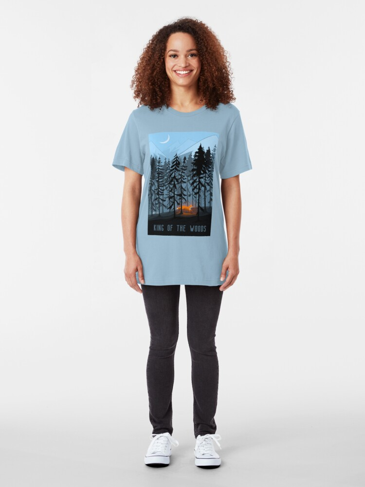 Alternate view of KING OF THE WOOD Slim Fit T-Shirt
