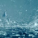 Close-up of splashing water by Sami Sarkis