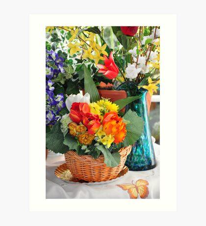 home flowers in the corner Art Print