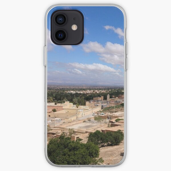 Tioute and the oasis, near Taroudant, Morocco (horizontal) iPhone Soft Case
