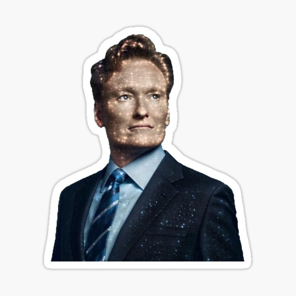 Conan O'Brien Stars and Space Face Sticker