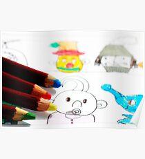Kids Doodles Poster