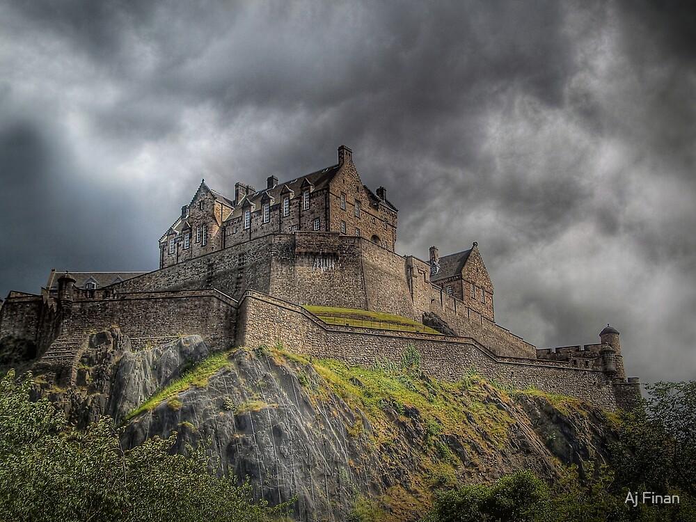 Rain Clouds Over Edinburgh Castle by Aj Finan