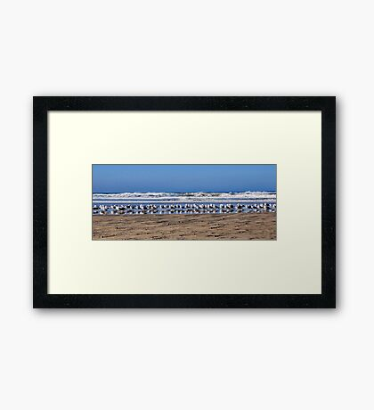 Why Are We Standing In Line Framed Print