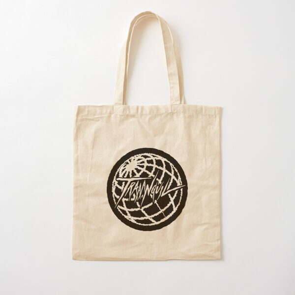 traaanquil black Cotton Tote Bag