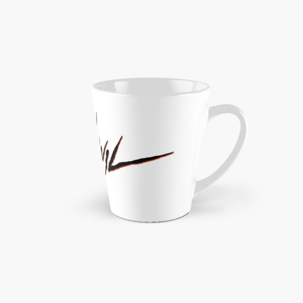 traaanquil text in black/red Tall Mug