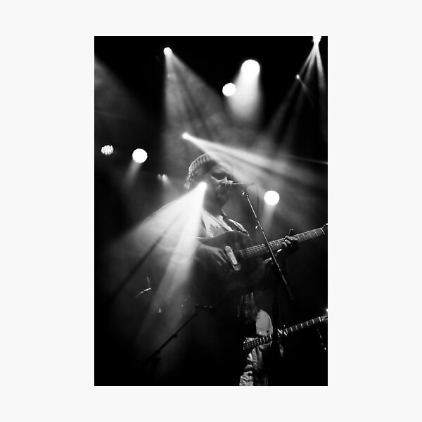 black and white concert photo Photographic Print