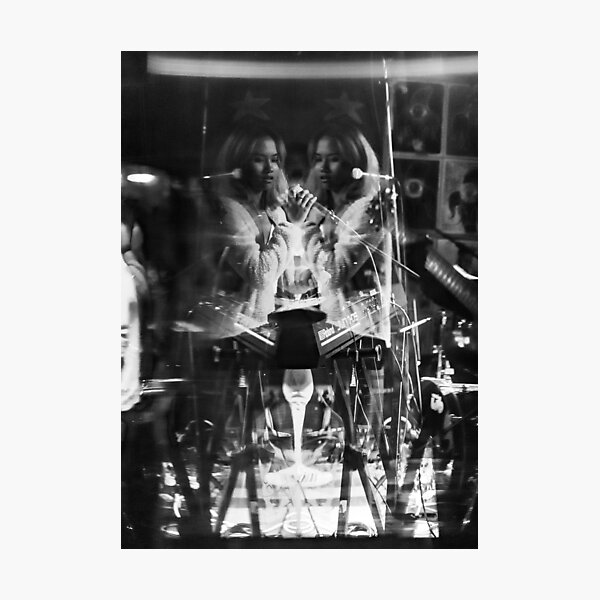 black and white concert photography Photographic Print