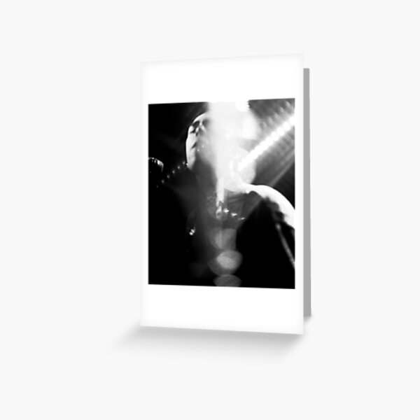 black and white concert photo Greeting Card