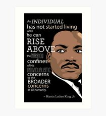 Inspirational Quote: Martin Luther King Jr. Art Print
