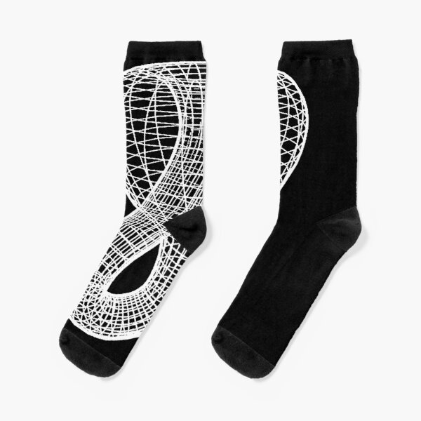 A two-dimensional representation of the Klein bottle immersed in three-dimensional space, #TwoDimensional, #representation, #KleinBottle, #immersed, #ThreeDimensional, #space Socks