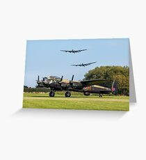Three Lancasters at East Kirkby Greeting Card