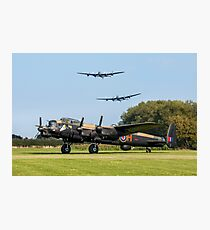 Three Lancasters at East Kirkby Photographic Print