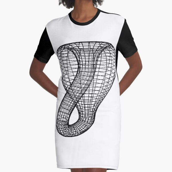 A two-dimensional representation of the Klein bottle immersed in three-dimensional space, #TwoDimensional, #representation, #KleinBottle, #immersed, #ThreeDimensional, #space Graphic T-Shirt Dress