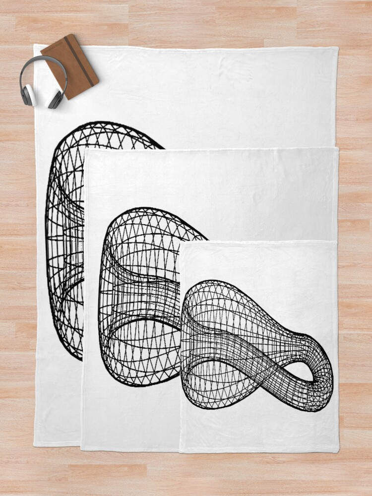 Alternate view of A two-dimensional representation of the Klein bottle immersed in three-dimensional space, #TwoDimensional, #representation, #KleinBottle, #immersed, #ThreeDimensional, #space Throw Blanket