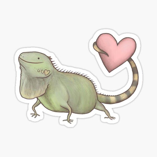 Iguana Love You Sticker