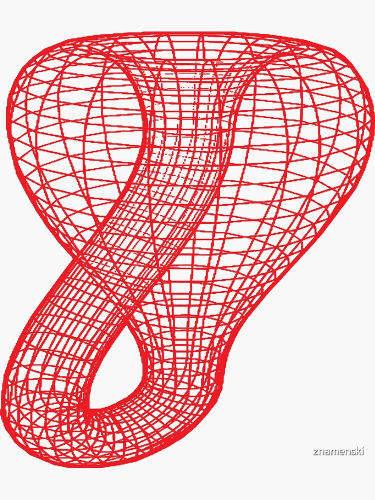 A two-dimensional representation of the Klein bottle immersed in three-dimensional space, #TwoDimensional, #representation, #KleinBottle, #immersed, #ThreeDimensional, #space by znamenski