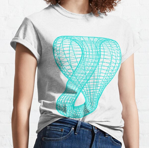 A two-dimensional representation of the Klein bottle immersed in three-dimensional space, #TwoDimensional, #representation, #KleinBottle, #immersed, #ThreeDimensional, #space Classic T-Shirt