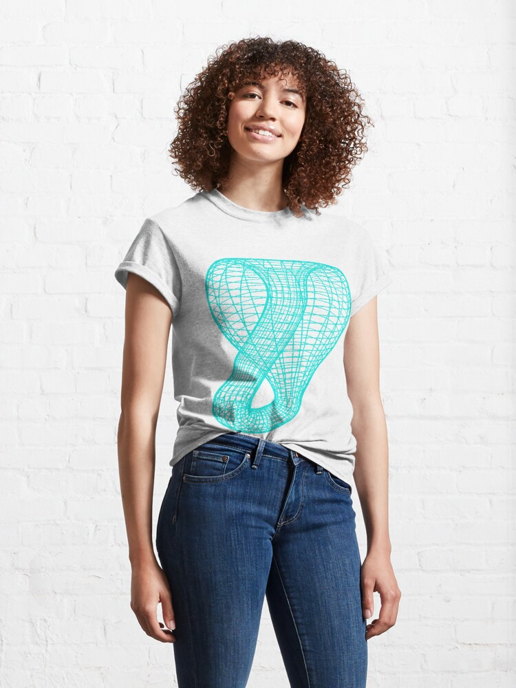 Alternate view of A two-dimensional representation of the Klein bottle immersed in three-dimensional space, #TwoDimensional, #representation, #KleinBottle, #immersed, #ThreeDimensional, #space Classic T-Shirt