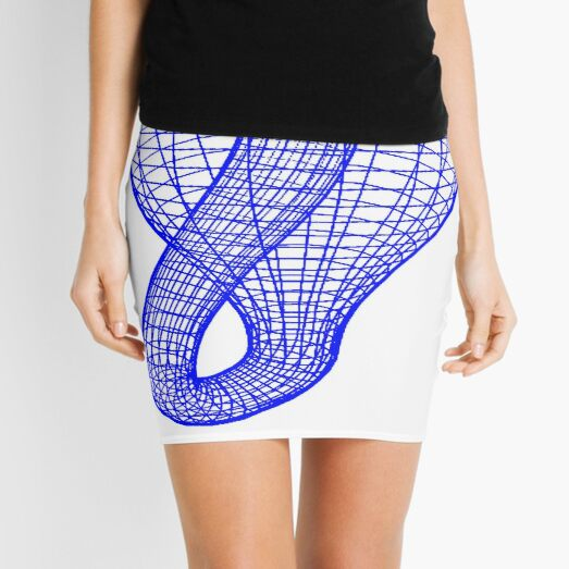 A two-dimensional representation of the Klein bottle immersed in three-dimensional space, #TwoDimensional, #representation, #KleinBottle, #immersed, #ThreeDimensional, #space Mini Skirt