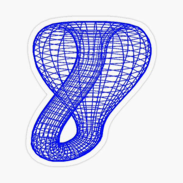 A two-dimensional representation of the Klein bottle immersed in three-dimensional space, #TwoDimensional, #representation, #KleinBottle, #immersed, #ThreeDimensional, #space Transparent Sticker
