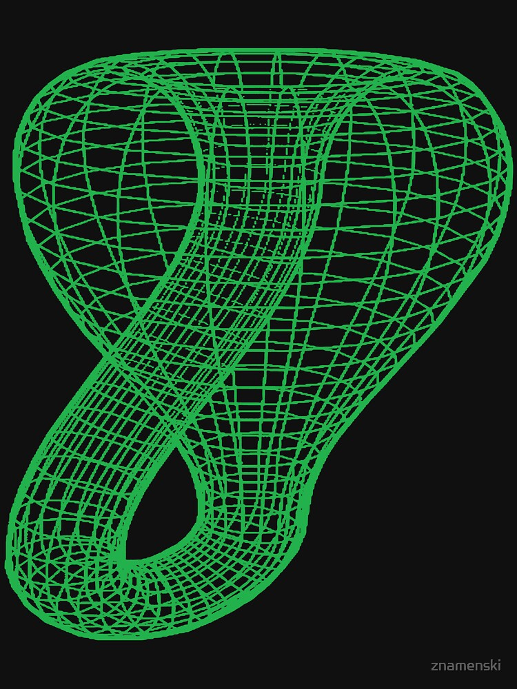 Two-dimensional representation of the Klein bottle immersed in three-dimensional space, #TwoDimensional, #representation, #KleinBottle, #immersed, #ThreeDimensional, #space by znamenski