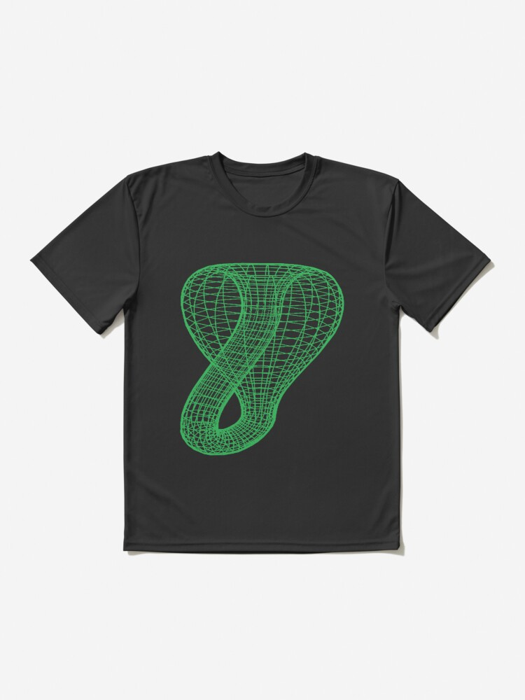Alternate view of Two-dimensional representation of the Klein bottle immersed in three-dimensional space, #TwoDimensional, #representation, #KleinBottle, #immersed, #ThreeDimensional, #space Active T-Shirt