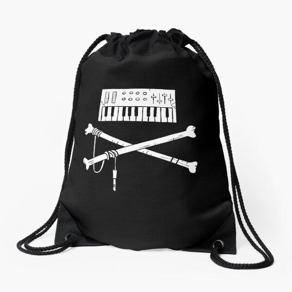 Synth & Crossbones Drawstring Bag
