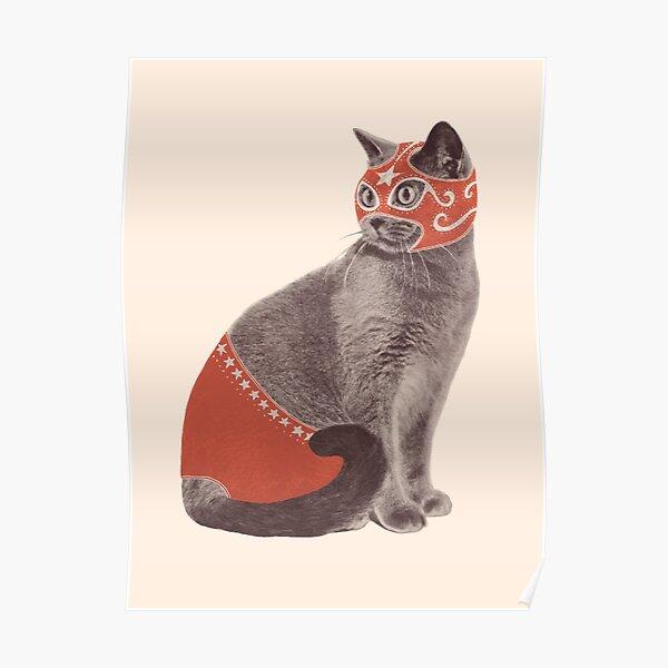 Cat Wrestler Poster