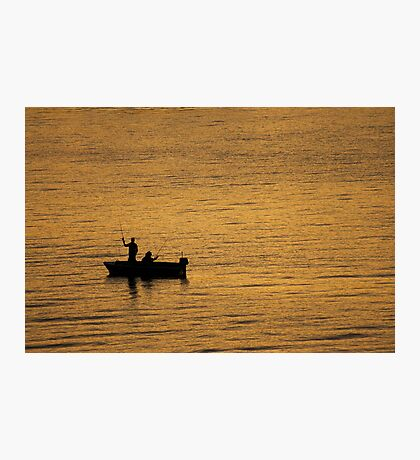 Fishing on Sydney Harbour Photographic Print