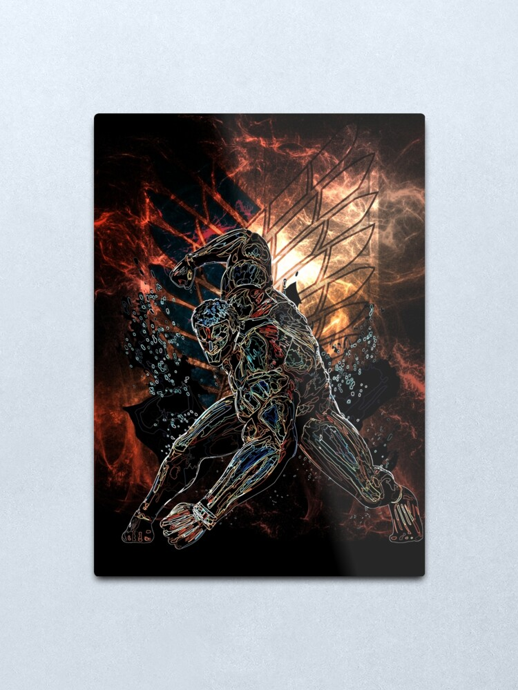 Alternate view of Armored Titan Awakening Metal Print