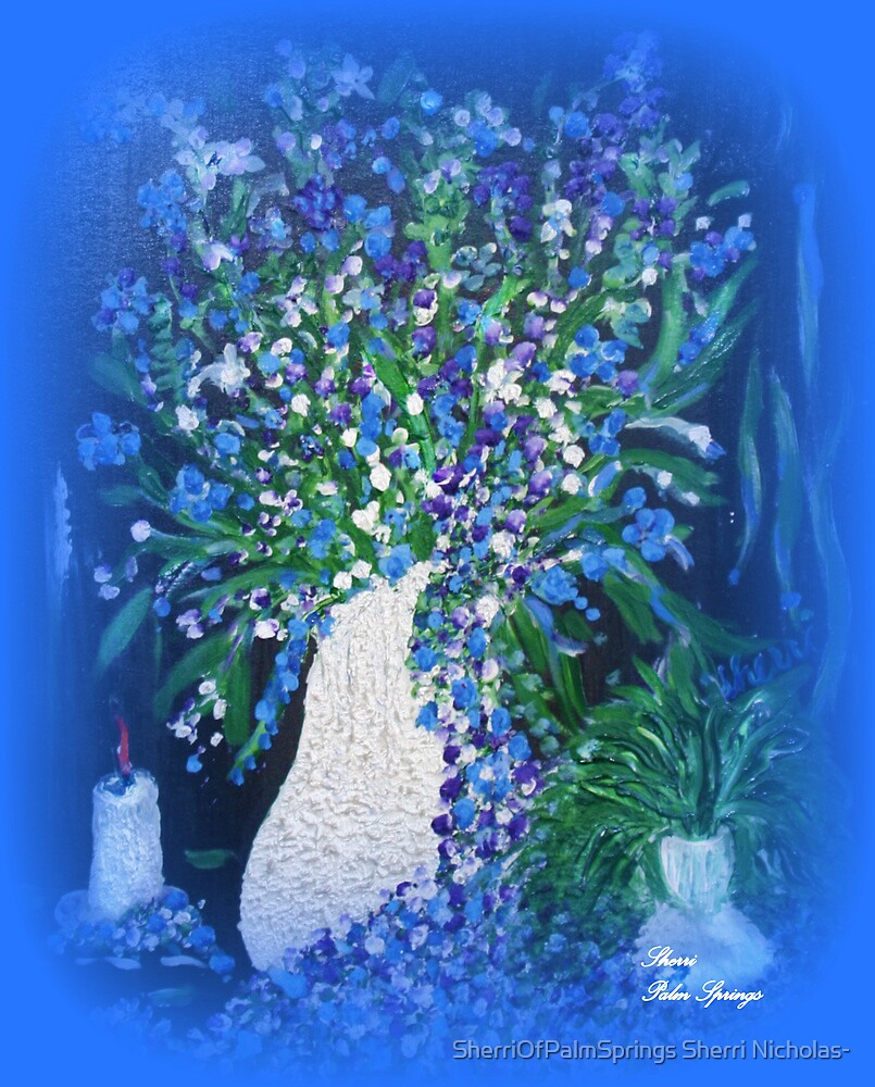 PASSION-CANDLELITE AND FLOWERS by SherriOfPalmSprings Sherri Nicholas-